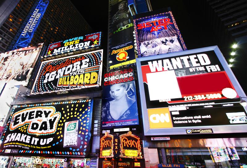 mainostauluja New Yorkissa