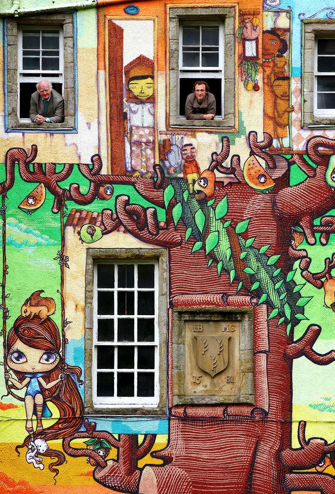 vihreä graffiti