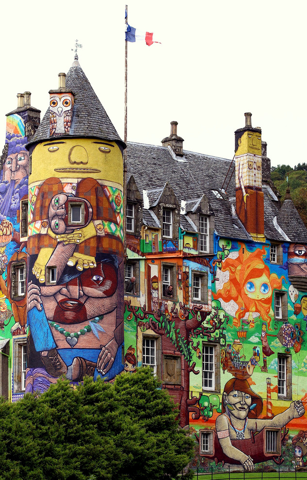 vanha skotlantilainen linnake