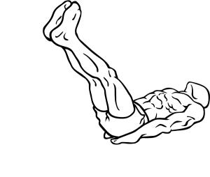 jalkojen nosto selinmakuulla